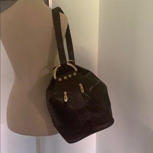 Authentic Valentina Vtg leather handbag purse